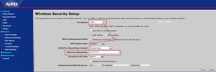 zyxel_p-330w-ee_wireless_security